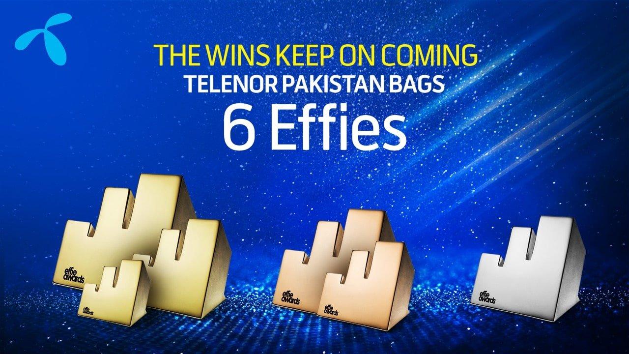 Telenor Pakistan has received six Effie Awards